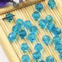 Beads, Auralescent Crystal, Crystal, Blue , Faceted Rounds, Diameter 6mm, 10 Beads, [ZZC244]